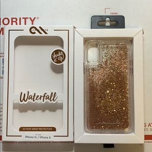 Casemate IPhone 10/X gold waterfall case new